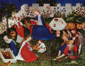 Paradijstuintje Anoniem 1420, Rijngotiek