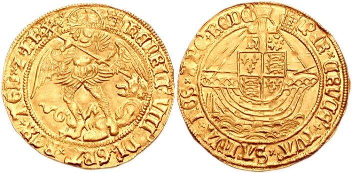 Henry VIII, zowel Michaël als Kogge (rond 1500)